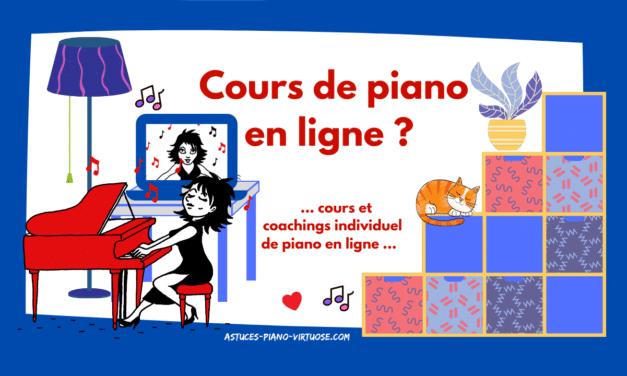 Cours de piano et Coaching individuel en ligne…