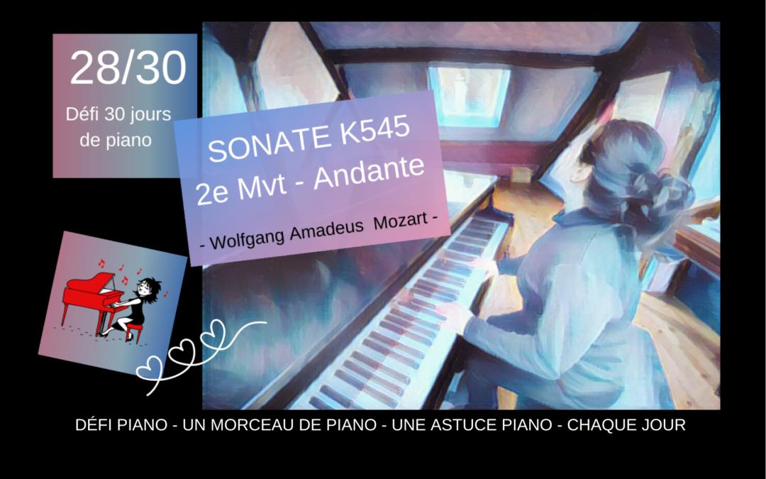 28/30 Sonate facile – Mozart – 2ème mouvement et une astuce